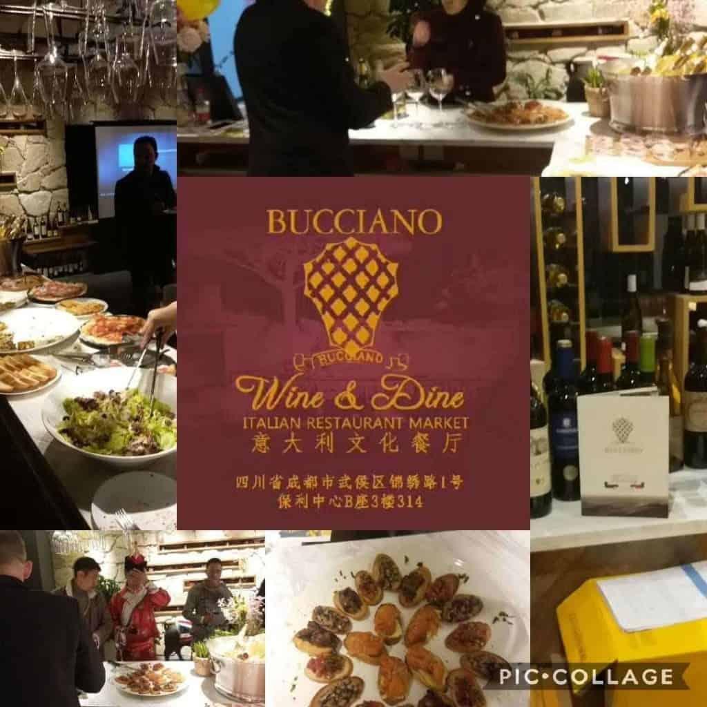Bucciano, Wine & Dine Italian Restaurant market.