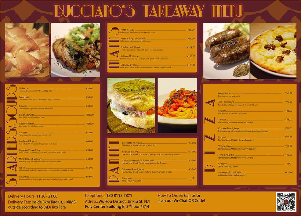 Chengdu-Expat bucciano menu