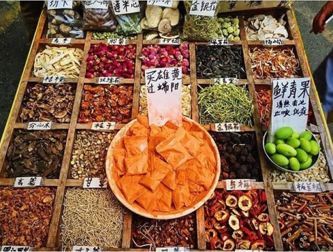 Chinese herbal teas and medicines at Chengdu's markets ?@chengdufoodtours