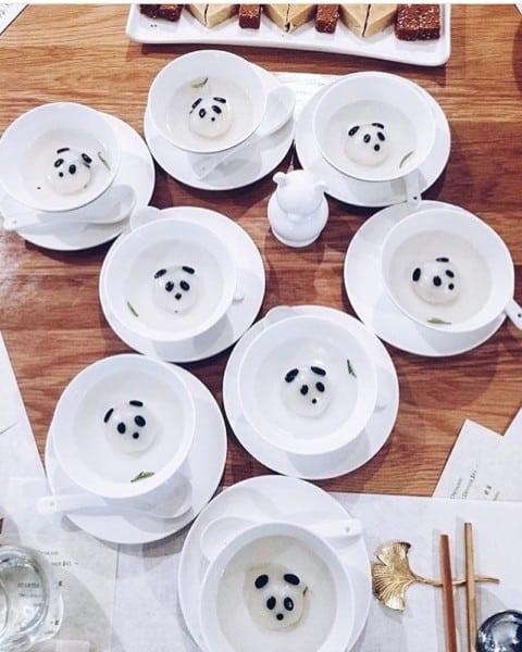 Panda dumplings! Only in Chengdu ? @mrhappymyc