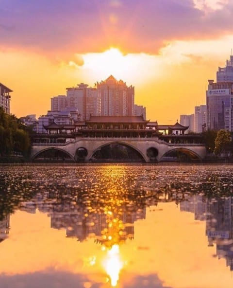 Chengdu by sunset ???? @jake.homovich