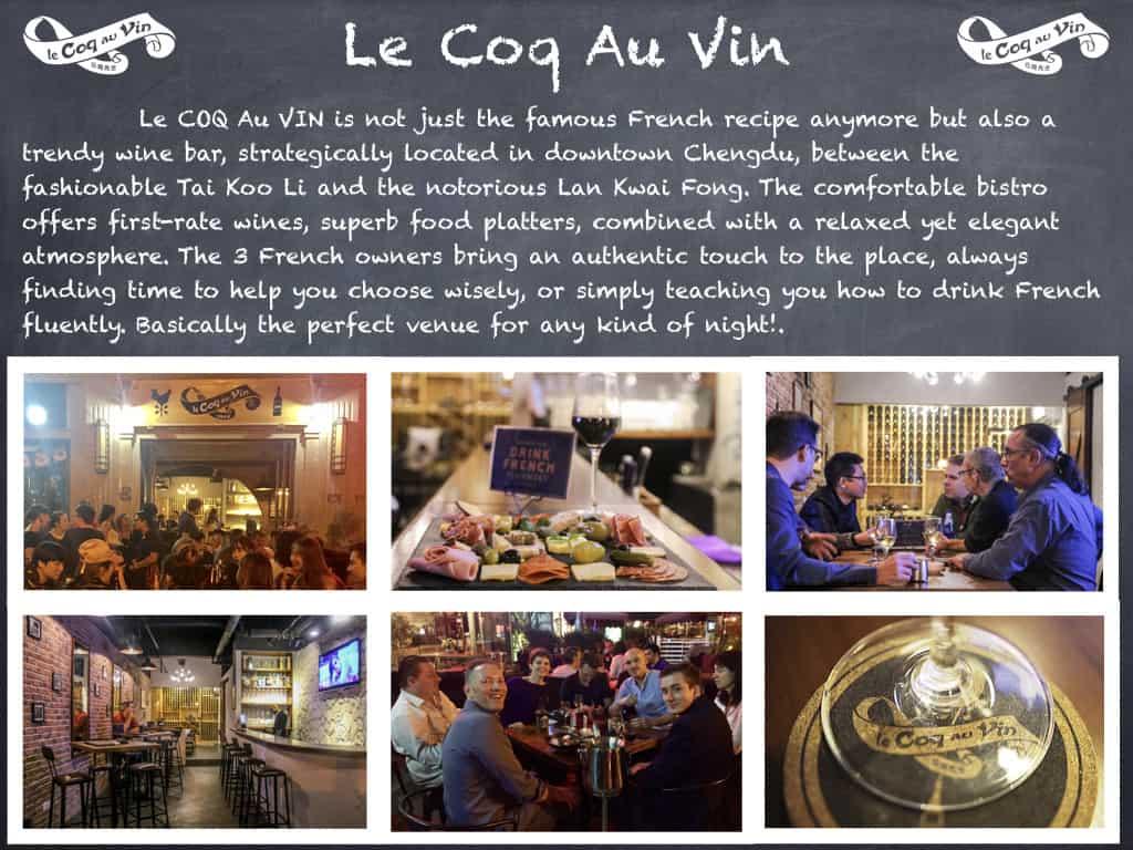 Le Coq Au Vin - Wine Bar- Chengdu Expat