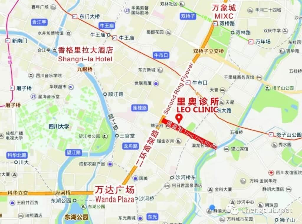 Family Healthcare in Chengdu MAPS