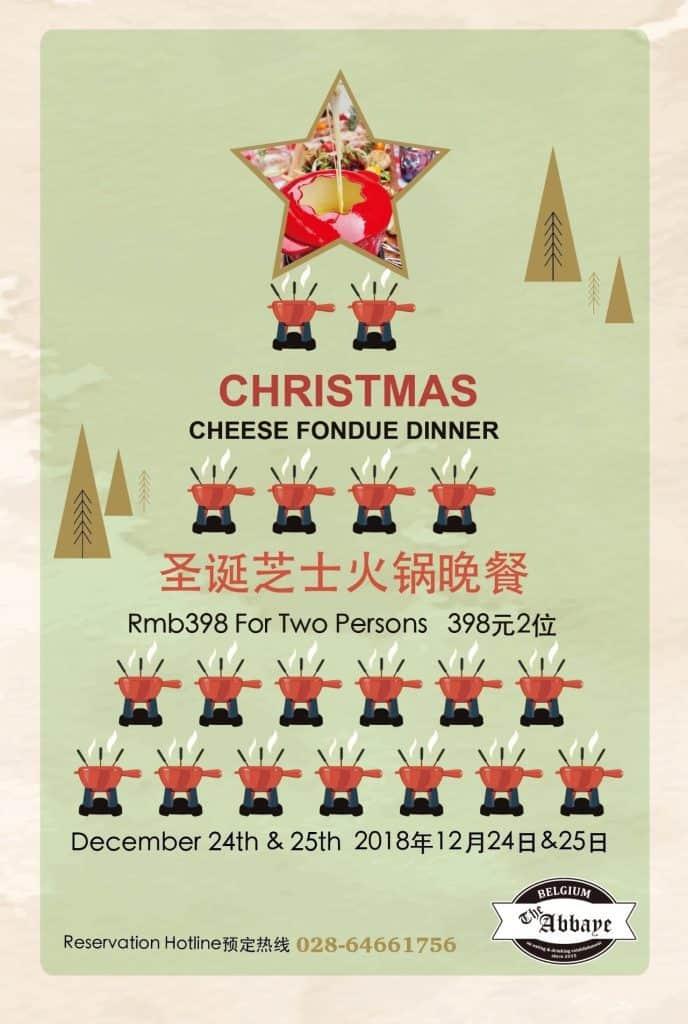 Christmas Cheese Fondue Abbaye Chengdu