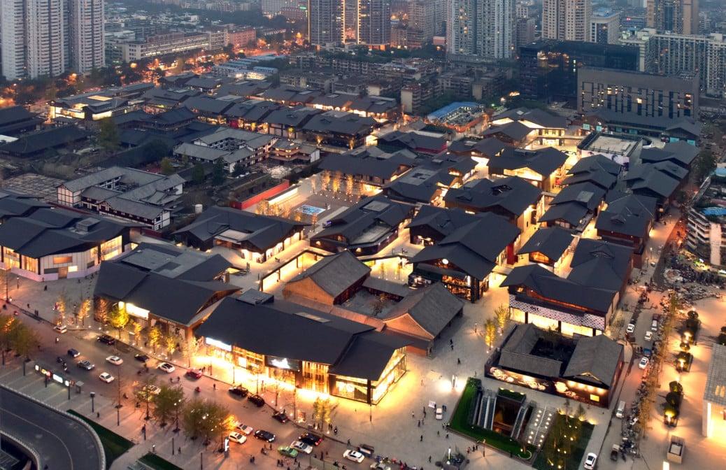 Chengdu TaiKoo Li 成都远洋太古里鸟瞰图 1038x672