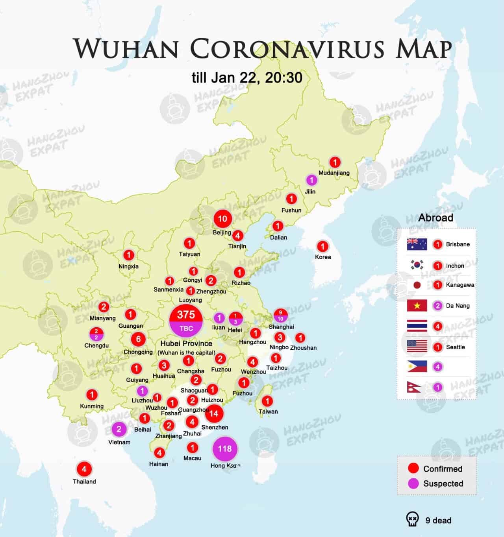 Covid Map: Wuhan Coronavirus Map January 21 - Chengdu Expat