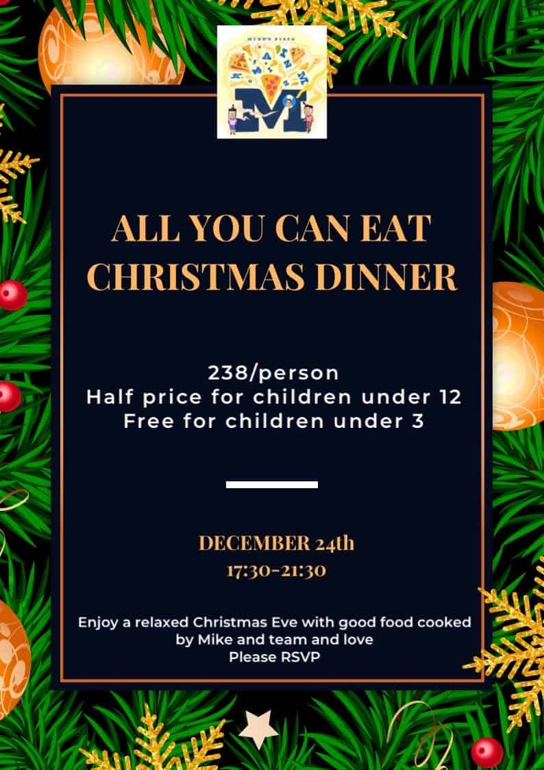 All-you-can eat Christmas Dinner at Mike's