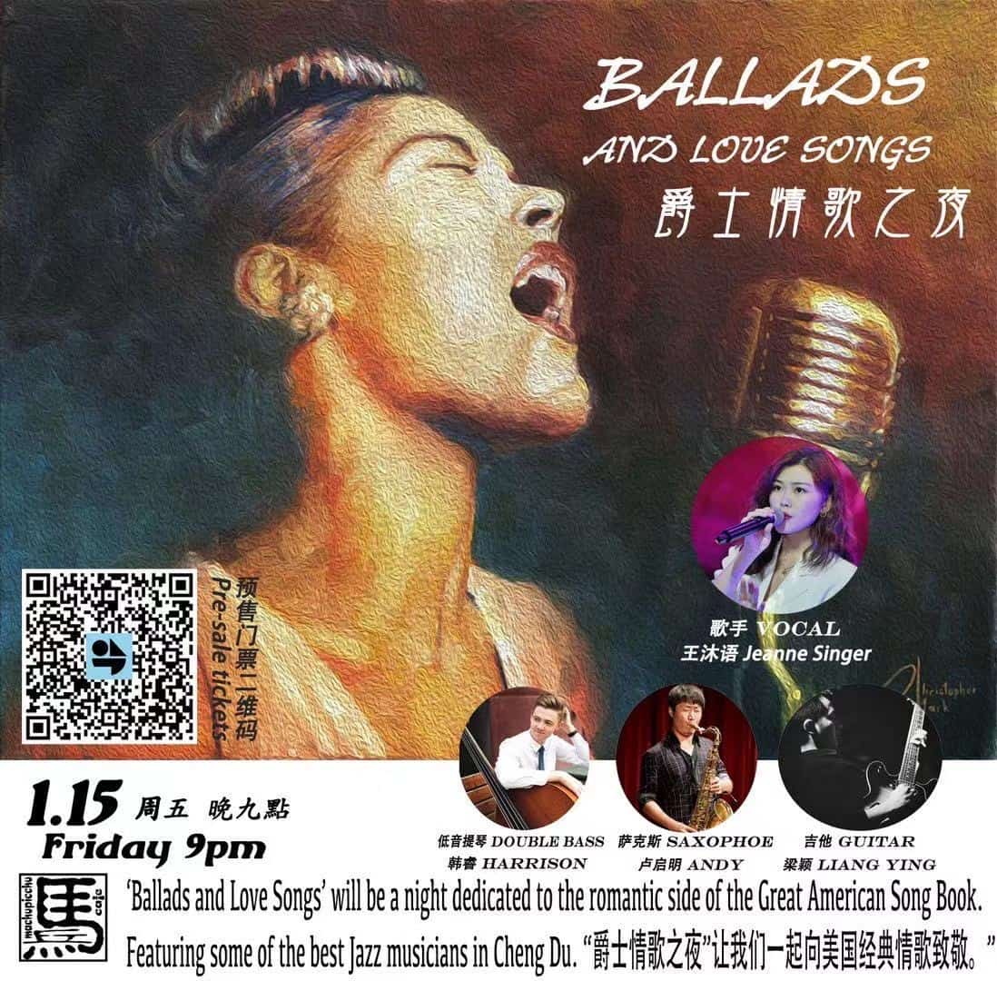 Ballads and Love Songs 爵士情歌之夜 Jazz Vocal Show