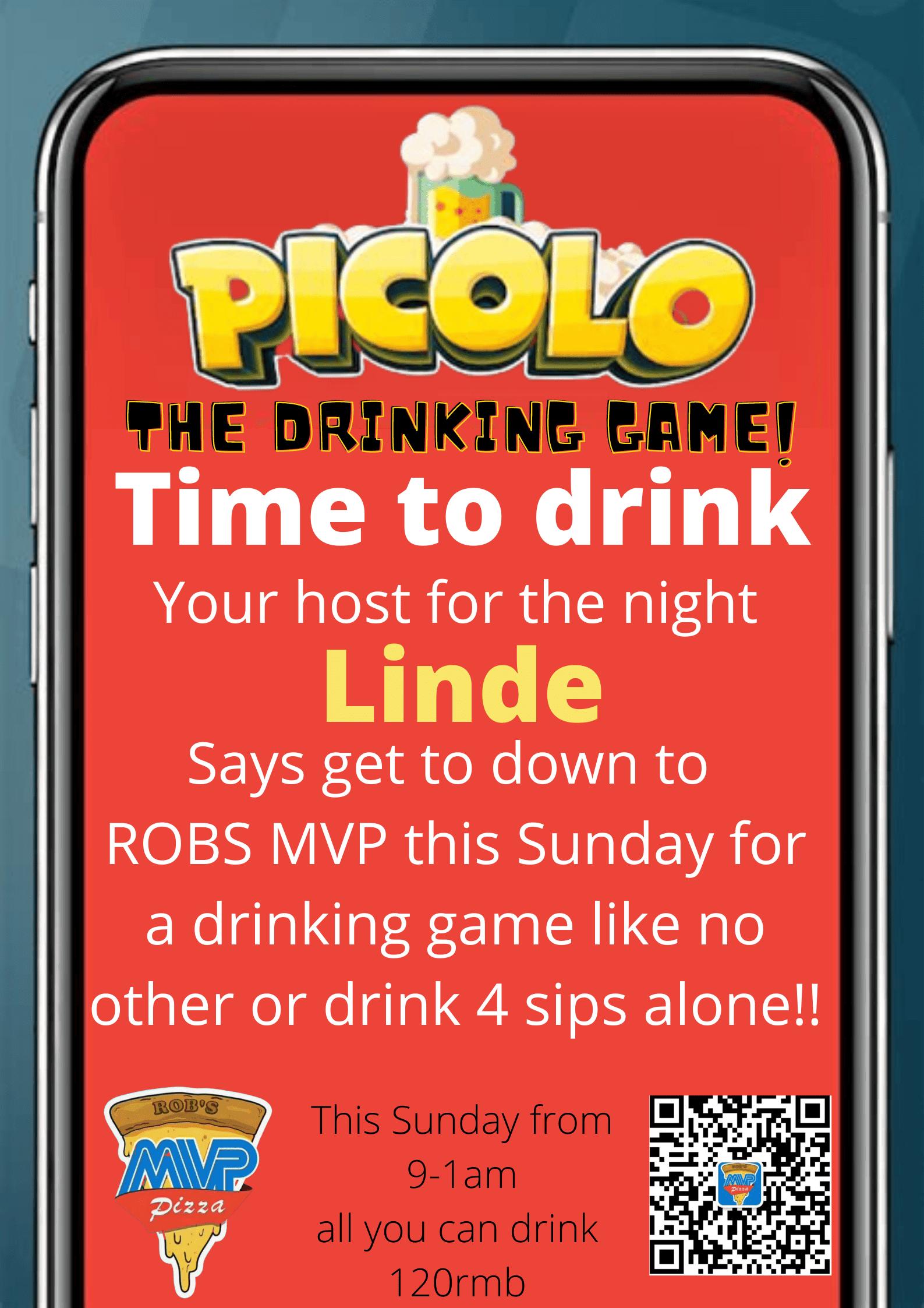 Picolo drinking game night